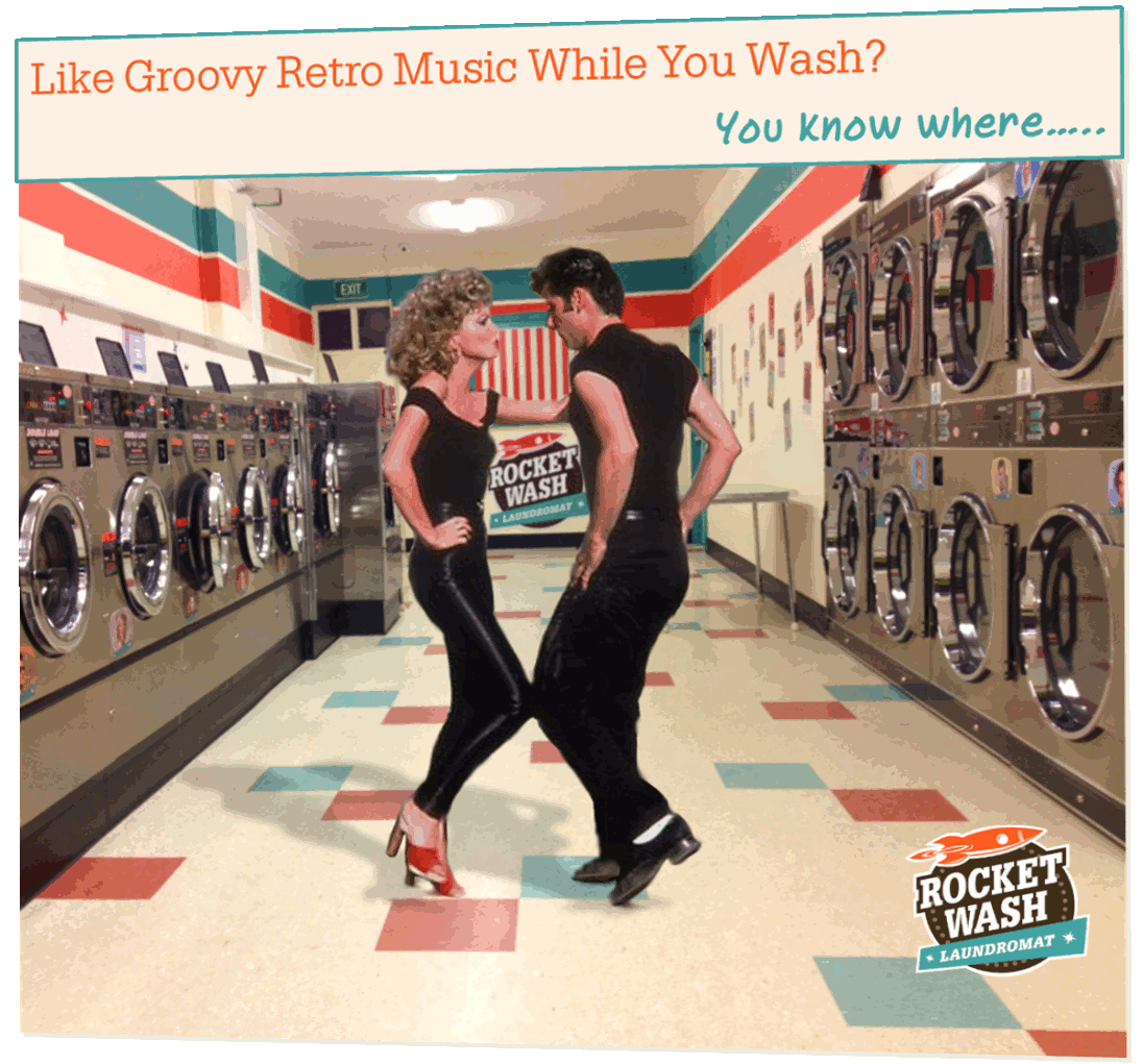 laundrette laundromat coin laundry retro music