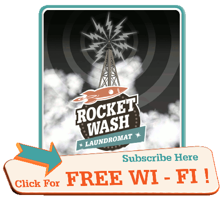 FREE WIFI at Rocket Wash Laundromat! Laundrette and Coin Laundry
